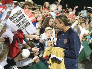 Abby Wambach signing autographs at RFK
