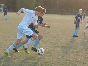 Under-14 action during the Boys Weekend of the 2012 Capital Fall Classic.