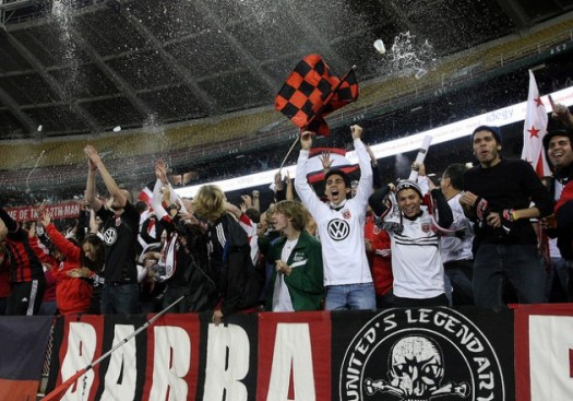 DC United Beer Shower - Photo Credit: Tony Quinn