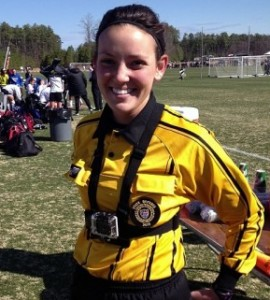 Referee at 2014 Jefferson Cup Girls Weekend wore a GoPro Camera