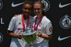 Maryland United players celebrate their championship