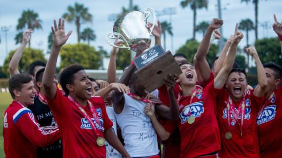 "Carson, Calif. - Saturday, July 18, 2015: FC Dallas defeat New York Red Bulls to win the 2014-15 U-16 US Soccer Development Academy Championship at Glenn ""Mooch"" Myernick Field at StubHub Center."
