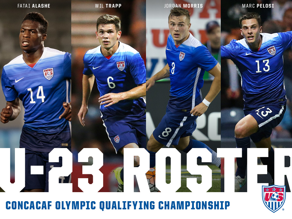 U S U 23 Mnt Roster Announced For Concacaf Olympic Qualifying Soccerwire