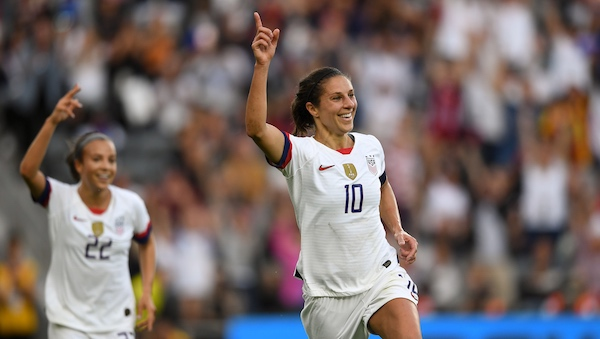 USWNT routs Belgium 6-0, led by first half brace from Carli
