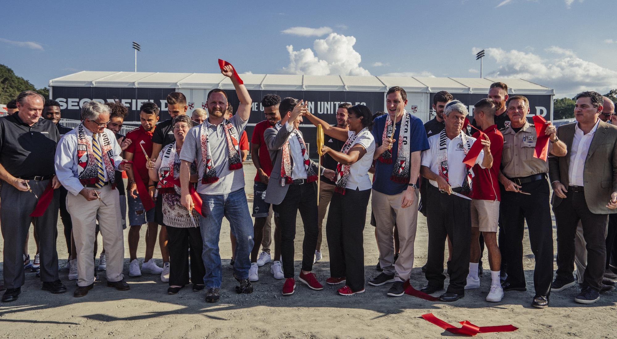 Loudoun United hold ribbon cutting ceremony at Segra Field